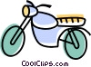 Vector Clip Art image  of a Dirt Bikes