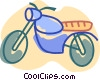 Vector Clip Art graphic  of a Dirt Bikes