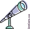 Vector Clipart picture  of a Telescopes