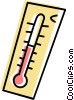 Vector Clip Art graphic  of a Thermometer