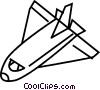 Vector Clipart picture  of a Space Shuttles and Capsules