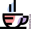 Vector Clip Art picture  of a Teacups