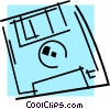 Vector Clipart image  of a Diskettes Floppy Disks