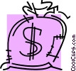 Vector Clip Art graphic  of a Money Bags