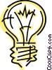 Vector Clip Art graphic  of a Light bulbs