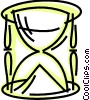 Vector Clip Art graphic  of a Hourglasses