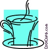 Vector Clip Art graphic  of a Cups of Coffee