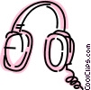 Vector Clipart picture  of a Headphones