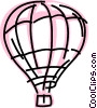 Hot Air Balloons Vector Clip Art graphic