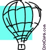 Vector Clipart graphic  of a Hot Air Balloons