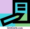 Vector Clip Art graphic  of a Personal Organizers Digital
