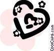 Vector Clip Art picture  of a Hearts