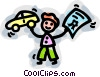 man buying a car Vector Clipart graphic