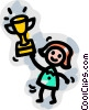 Vector Clipart image  of a Trophies, Awards Winning Prize