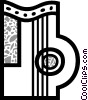 Vector Clipart graphic  of a Harps