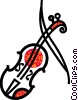 Vector Clipart illustration  of a Violins and Fiddles