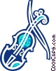 Vector Clip Art picture  of a Violins and Fiddles