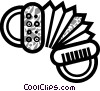 Accordions Vector Clipart illustration