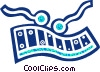 Vector Clip Art image  of a Xylophones