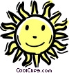 The Sun Vector Clipart picture