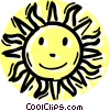 The sun Vector Clipart illustration