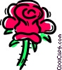 Vector Clip Art picture  of a Roses