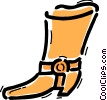 Vector Clipart picture  of a Boots