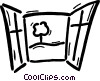 Vector Clip Art picture  of a Windows