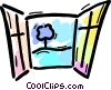 Vector Clipart image  of a Windows
