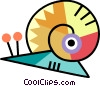 Vector Clip Art image  of a Snails