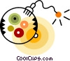 Bombs Vector Clipart graphic