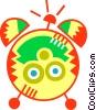Vector Clip Art image  of an Alarm Clocks