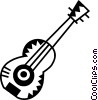 Vector Clip Art image  of an Acoustic Guitars
