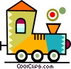 Toy Trains Vector Clip Art image