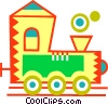 Vector Clipart image  of a Toy Trains