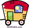 Camp Trailers Vector Clipart image