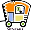 Camp Trailers Vector Clipart graphic