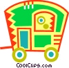 Vector Clipart illustration  of a Camp Trailers