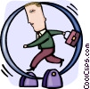 Running and Walking Vector Clip Art image