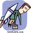 Vector Clipart picture  of a Soaring to New Heights
