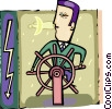 Captain's Wheel Vector Clipart graphic