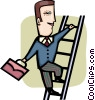 Vector Clip Art graphic  of a Climbing Ladders