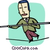 Balancing Vector Clipart graphic