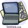 Vector Clipart image  of a Laptops and Notebook Computers