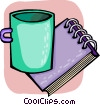 Notepad Vector Clip Art graphic