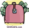 Vector Clip Art image  of a Briefcases