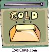 Vector Clipart illustration  of a Gold Bullion