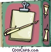 Vector Clipart graphic  of a Clipboards