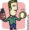 Vector Clipart picture  of a Mortgage and Loans