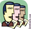 Businessmen Vector Clipart picture